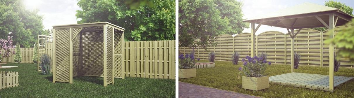 Propozycje aranżacji ogrodowych altanek
