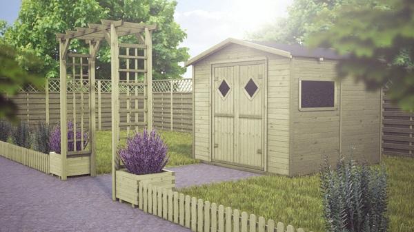 Drewniana architektura ogrodowa