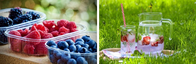Lemoniada z ogrodowych owoców z lodem - najlepsza na gorące dni