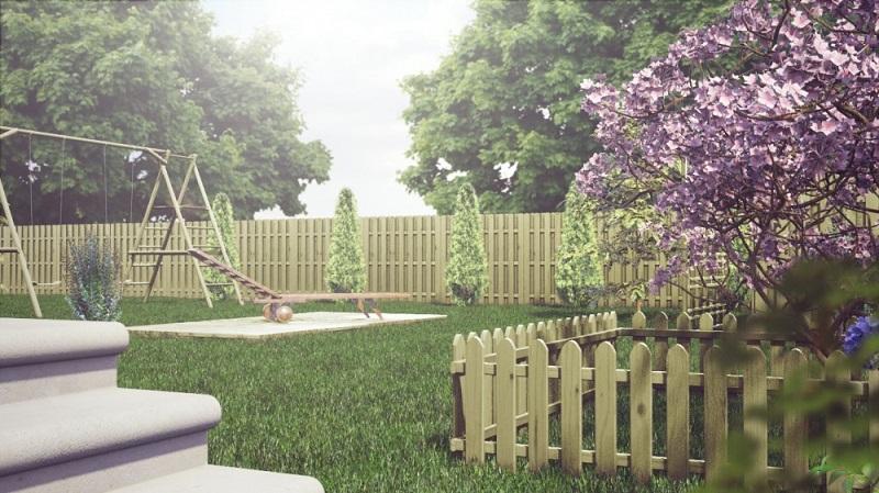 Naturalne ogrodzenia drewniane wpasują się w każdą przestrzeń ogrodu.