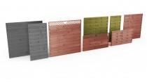 Drewniane przęsła ogrodzeniowe - różnorodność form i kolorów