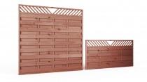 Płot drewniany szczelny V 90x180x3,5x3,5