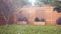 Płoty można wykorzystać jako niskie ogrodzenie zewnętrzne lub przegrody wydzielające przestrzeń w ogrodzie