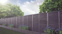 Grafitowe dodatki wśród ogrodowej roślinności