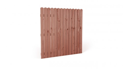 Płot drewniany deskowy HOLENDER 180x180x3,4 brązowy