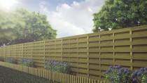 Przęsła drewniane HOLENDER naturalnie wkomponują się w ogrodową przestrzeń