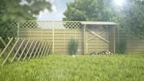 Propozycja aranżacji ogrodu z wykorzystaniem płotu myśliwskiego