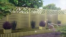 Różne sposoby użycia drewnianego rollbordera w ogrodzie i na działce