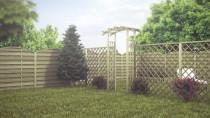 Aranżacja ogrodu z wykorzystaniem płotu ażurowego