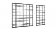 Grafitowe kratki ogrodowe: 180 x 180 cm i 180 x 90 cm