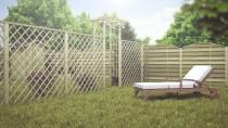 Wykorzystaj deskę do budowy konstrukcji ogrodowych takich jak pergole lub ogrodzenia