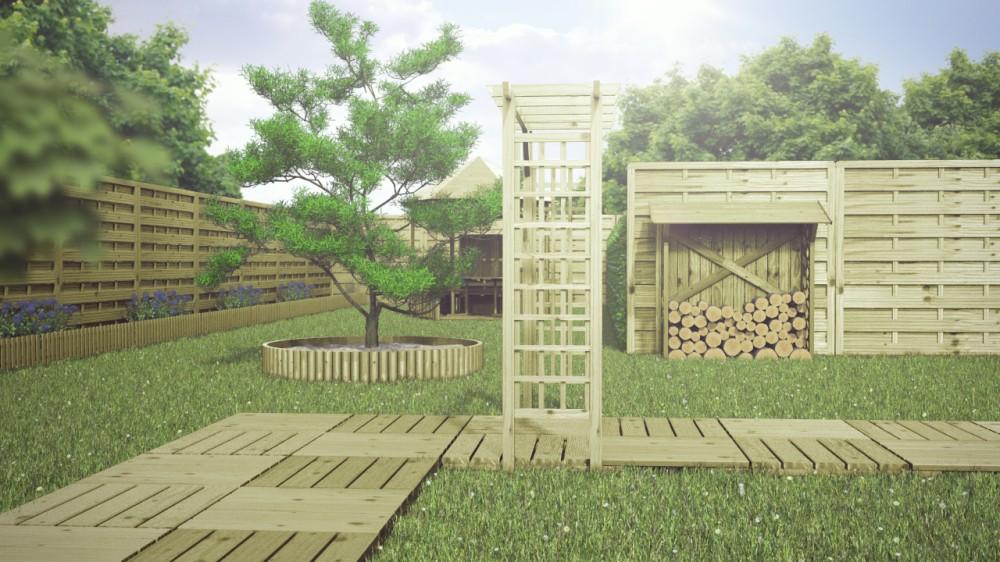 Podest Tarasowy Drewniany 50x50x24