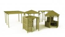Seria drewnianych konstrukcji ogrodowych Wooder: pawilony, altany, pergole