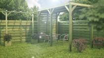 Jak wykorzystać drewniany pawilon z pergolą w ogrodzie?