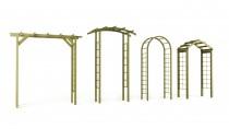Kolekcja pergoli drewnianych Wooder - różne formy