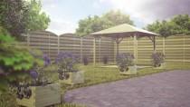 W ogrodzie najlepiej wykorzystać drewnianą architekturę ogrodową