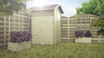 Drewniane skrzynie na rośliny - do wykorzystania na zewnątrz