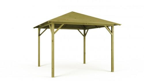 Pawilon ogrodowy z drewna sosnowego: 333 x 333 cm