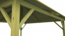Pawilon drewniany na stabilnych słupach konstrukcjnych - trwałość i wytrzymałość