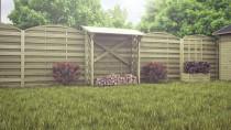Wiata na drewno - przydatny gadżet ogrodowy dla właścicieli kominków