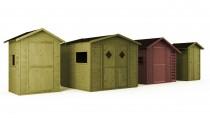 Domki ogrodowe Wooder w różnych rozmiarach