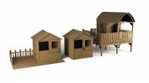 Kolekcja drewnianych domków dla dzieci Wooder - wybierz model dopasowany do Twojego ogrodu