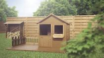 Domek MAGIC z ogródkiem - centrum ogrodowego placu zabaw dla dzieci