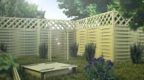 Piaskownica z drewna sosnowego w ogrodzie - zbuduj plac zabaw