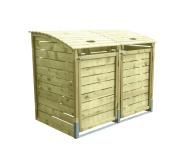 Obudowa śmietnika drewniana 156x122x94