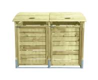 Podwójna obudowa drewniana z otwieraną klapą i drzwiami