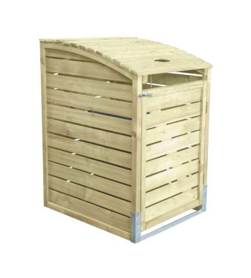 Obudowa na śmietnik z drewna świerkowego