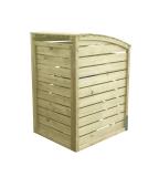 Altanka śmietnikowa drewniana pomieści 1 duży pojemnik