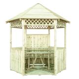Zorganizuj ogrodowe party w drewnianej altanie