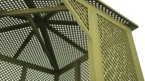 Dekoracyjny charakter altanki - ścianki mogą być również podporą dla pnączy