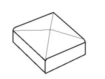 Daszek na słupek kwadratowy 9x9