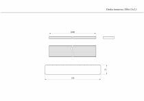 Rysunek techniczny deski 200x12x2,1 cm