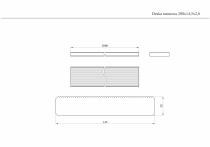 Deska tarasowa o długości 200 cm i szerokości 14,5 cm