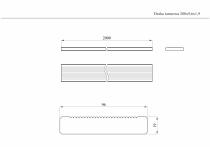 Wymiary deski 200x9,6x1,9