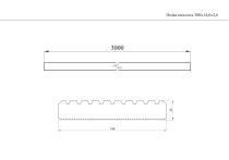 Deska tarasowa 300x14,6x2,6