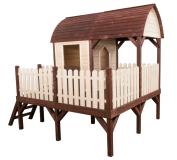 Pomysł na dekorację domku drewnianego dla dziecka