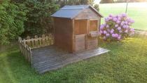 Domek MAGIC z ogródkiem jest ulubionym miejscem zabawy dla dzieci