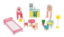 Domek dla lalek Happy Day z 12 akcesoriami