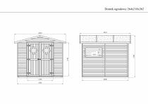 Domek ma optymalne wymiary pasujące do większych i mniejszych przestrzeni ogrodowych