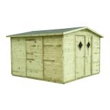 Domek ogrodowy narzędziowy bez podłogi COMBO 333x327