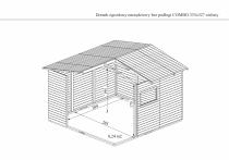 Wymiary domku ogrodowego bez podogi COMBO