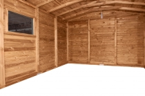 Wnętrze domku JUMBO jest bardzo przestronne