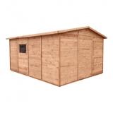 W domku można przechowywać rozmaite sprzęty ogrodowe a także pojazdy