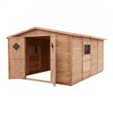 Domek ogrodowy narzędziowy bez podłogi JUMBO 333x427 brązowy
