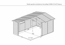 Wymiary domku JUMBO bez podłogi w kolorze brązowym