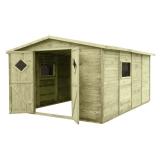 Domek ogrodowy narzędziowy bez podłogi JUMBO 333x427 naturalny